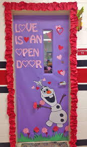 Love is an Open Door Olaf theme - Featured in 27 Valentine's Day Classroom Door  Decorating