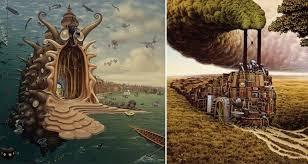 Surreal Paintings 15 Surreal And Mind Bending Works By Polish Painter Jacek Yerka