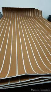 2018 marine boat yacht rv caravan eva faux teak decking carpet sheet mls light brown with white stripes 47 x 94 1200mm 2400mm 1 4 thick from jimxinwei