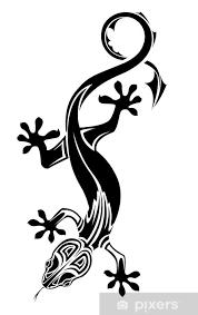 Fototapeta Vinylová Ještěrka Tetování