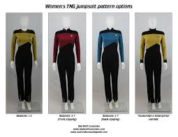 star trek tng women s jumpsuit sewing pattern
