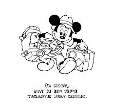 Kleurennu Mickey Gaat Op Vakantie Kleurplaten