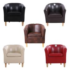 Faux Leather Dining Room Chairs Foxhunter Tub Chair Armchair Faux Leather Dining Room Office