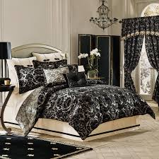 Captivating Black Velvet Emboss Floral Pattern King Comforter Sets With Curtain And  Valance For Bedroom Decor,