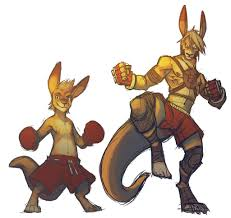 Kangaroo Character Design Digital Practice Kangaroo Fighter By Ben Ben On Deviantart