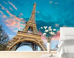 Small Picture Eiffel Tower Wall Mural YOUR DECAL SHOP NZ Designer Wall Art