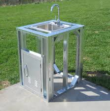 stainless steel outdoor sink. Excellent Outdoor Kitchen Faucet Gorgeous Frames Kits With Within Attractive Stainless Steel Sink