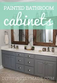 paint color for bathroom cabinets. painted bathroom cabinets gray and brown color scheme paint for a