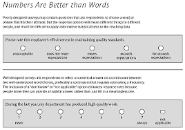 Quality Of Work Example Getting The Truth Into Workplace Surveys