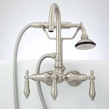 pasaia tub wall mount faucet with variable centers and hand shower lever handles