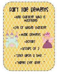 Elements Of A Fairy Tale Fairy Tale Elements Poster By Laura Pecor Teachers Pay Teachers
