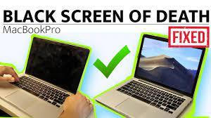 macbook pro black screen of