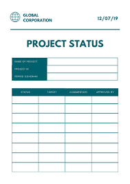 Simple Green Globe Project Status Report Templates By Canva