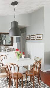 ikea hektar lighting in dining room