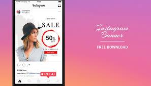 Instagram Banner Design Free Instagram Banners Templates Psd On Behance