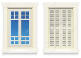 Illustration Of Separated Exterior Home Windows With And Without - Exterior windows