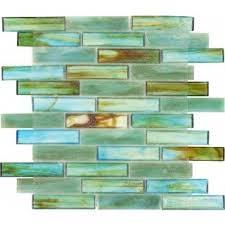turquoise green 1u0027u0027 x 4u0027u0027 glossy glass tile sea glass tile 282 sea
