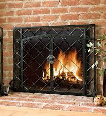 44 w x 33 h 2 door celtic knot flat fire screen