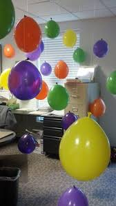 office birthday decoration. Birthday Office Balloons - So We Don\u0027t Have To Get Them Blown Up At The Store. Decoration