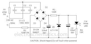 power led lamp power led lamp circuit diagram