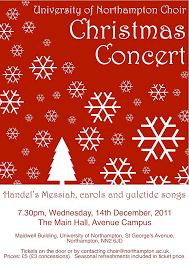 Christmas Concert Poster University Of Northampton Choir Christmas Concert Poster Flickr