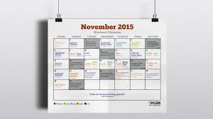 november calendar header november 2015 workout calendar