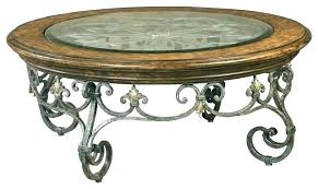 wrought iron side table. Wrought Iron And Wood Coffee Table Round Shaped Side E