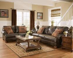 wall color for brown furniture. Vintage Brown Furniture With Peach Wall Color For Antique Living Room Ideas M