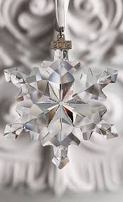 SWAROVSKI 2012 CHRISTMAS ORNAMENT LARGE CLEAR 1125019