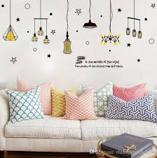 personality chandelier light large wall stickers home decor living room bedroom art decals wallpaper removablezi 375 wall sticker deals wall sticker decor