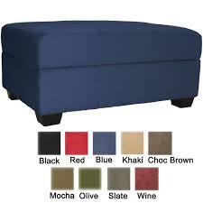 furniture beautiful blue storage ottoman for living room design