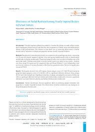 Pdf Effectiveness Of Herbal Mouthwash Among Visually