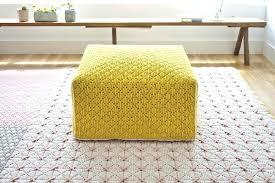 yellow pouf ottoman. Simple Pouf Fancy Yellow Pouf Ottoman Image Of Smart Design Mustard  And U