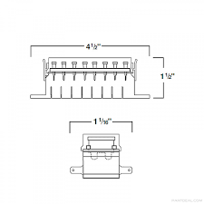 hella hella 8 gang fuse box side connections h84960111 h84960111 hella h84960111 8 gang fuse box side connections dimensions