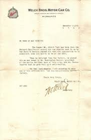 Letter Of Recommendation Mechanic Packard Chauffeur School To Ww 1 Airplanes Recommendation