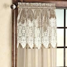 priscilla curtains criss cross curtains with attached valance cur curtains with attached valance lace curtain panels