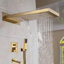 bathroom shower heads. Solid-brass-waterfall-bathroom-rain Bathroom Shower Heads