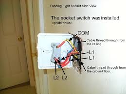 how to wire a 2 gang 3 way light switch images how to wire a 2 noticed who ever installed these sockets was wiring them upside down