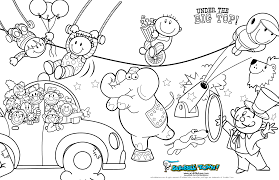 Small Picture Circus Coloring Pages To Print Archives Within Free Clown Coloring