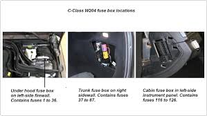 mercedes benz c class w204 fuse diagrams and commonly blown fuses location of w204 fuse boxes