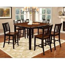 cherry counter height piece: dover black amp cherry  piece counter height dining set