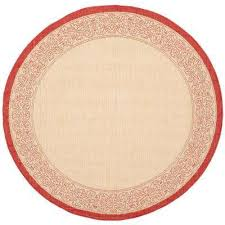 courtyard natural red 8 ft x 8 ft indoor outdoor round area