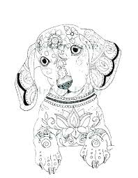 Dog Coloring Pages For Adults Christmas Worksheet Printables