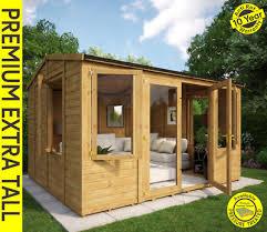 diplomat wooden garden summerhouse apex double door t g shiplap garden office