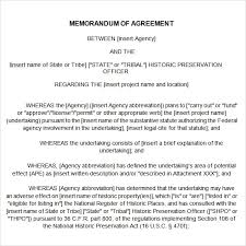 Free 15 Sample Memorandum Of Agreement Templates In Google