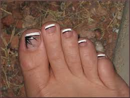 Simple toe nail design - how you can do it at home. Pictures ...