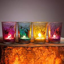 moroccan tea light holders set of 4