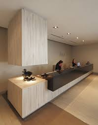 C-House Office Reception Desk Design | Love the Striped Wood: | TT Builders  | Pinterest | Office reception desks, Reception desk design and Reception  desks