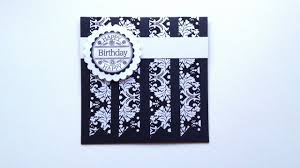 how to make an easy and elegant birthday card diy crafts tutorial