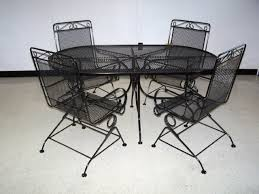 black iron furniture. Patio Furniture Round Black Metal Make Your Own For Garden Intended The House Iron